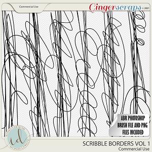 CU Scribble Borders Vol 1 by Ilonka's Designs