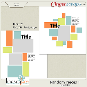 Random Pieces 1 Templates by Lindsay Jane