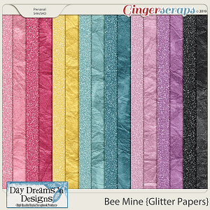 Bee Mine {Glitter Papers} by Day Dreams 'n Designs