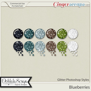 Blueberries CU Glitter Photoshop Styles