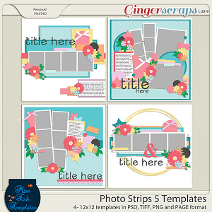 Photo Strips 5 Templates by Miss Fish