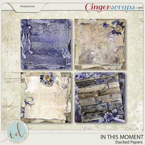 In This Moment Stacked Papers by Ilonka's Designs