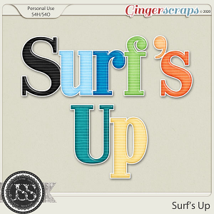 Surf's Up Alphabets
