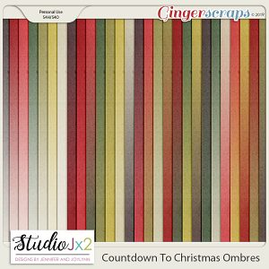 Countdown To Christmas Ombre Papers