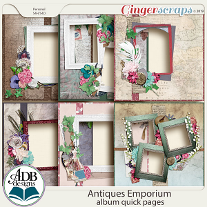 Antiques Emporium Album Quick Pages by ADB Designs