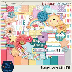 Happy Day Mini Digital Scrapbooking Kit by Miss Fish