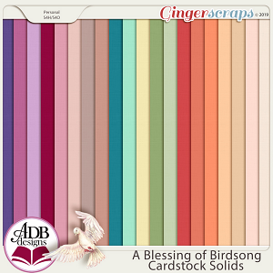A Blessing of Birdsong Solid Papers by ADB Designs