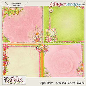 April Daze Stacked Papers (Layers)