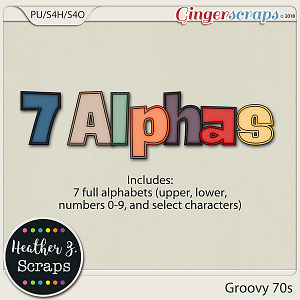 Groovy 70s ALPHABETS by Heather Z Scraps