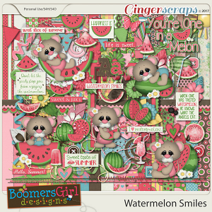 Watermelon Smiles by BoomersGirl Designs