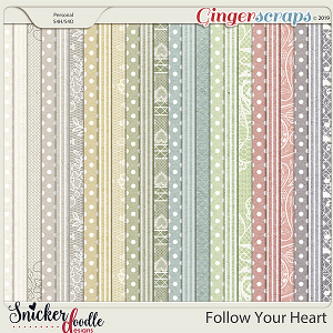 Follow Your Heart Bonus Papers by Snickerdoodle Designs