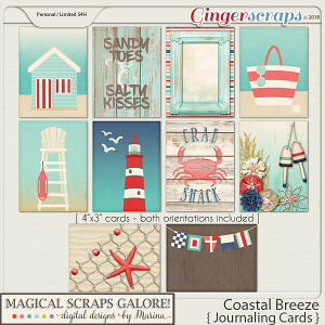 Coastal Breeze (journaling cards)