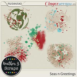 Seas n Greetings PAINTS by Heather Z Scraps