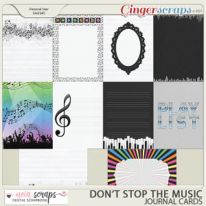 Don't Stop the Music - Journal Cards - by Neia Scraps