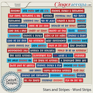 Stars and Stripes - Word Strips by CathyK Designs