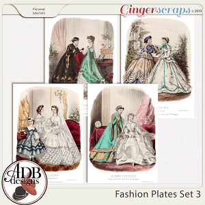 Heritage Resource - Fashion Plates Set 3 by ADB Designs