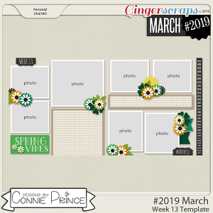 #2019 March - Week 13 Template Pack (CU Ok) by Connie Prince