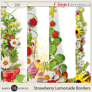 Strawberry Lemonade Borders by Karen Schulz