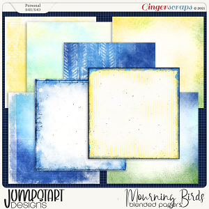 Mourning Birds {Blended Papers} by Jumpstart Designs