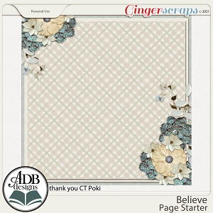 Believe Stacked Paper Gift 01 by ADB Designs