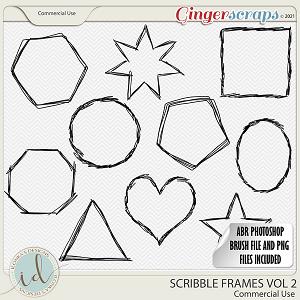 CU Scribble Frames Vol 2 by Ilonka's Designs