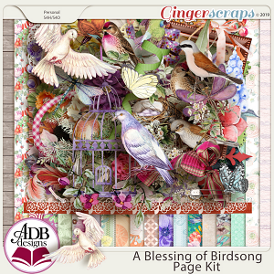 A Blessing of Birdsong Page Kit by ADB Designs