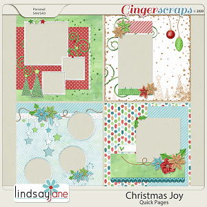 Christmas Joy Quick Pages by Lindsay Jane