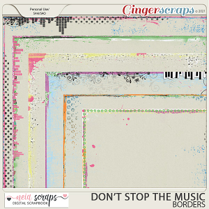 Don't Stop the Music - Borders - by Neia Scraps