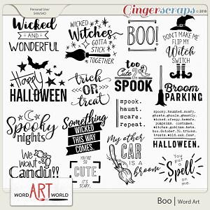 Boo Word Art