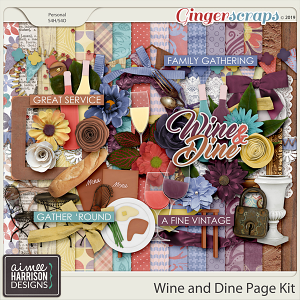 Wine and Dine Page Kit by Aimee Harrison