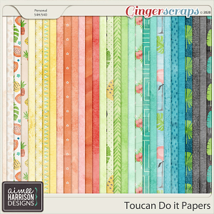 Toucan Do It Paper Pack by Aimee Harrison