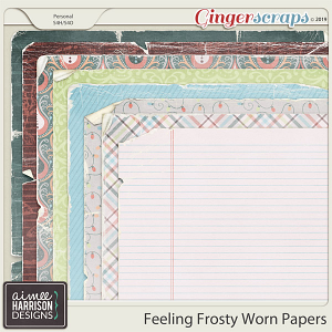 Feeling Frosty Worn Papers by Aimee Harrison