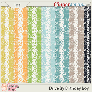 Drive By Birthday Boy Pattern Papers