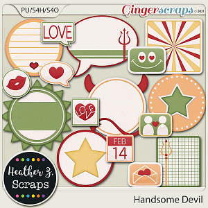 Handsome Devil STICKERS & TAGS by Heather Z Scraps