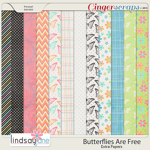 Butterflies Are Free Extra Papers by Lindsay Jane