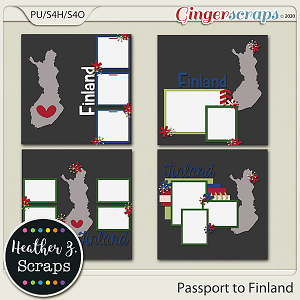 Passport to Finland TEMPLATES by Heather Z Scraps