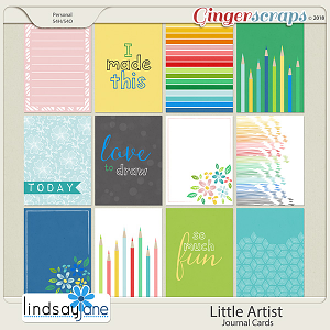 Little Artist Journal Cards by Lindsay Jane