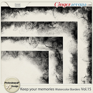 Keep your memories Watercolor Borders Vol.15