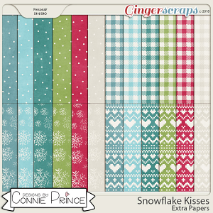 Snowflake Kisses - Extra Papers by Connie Prince