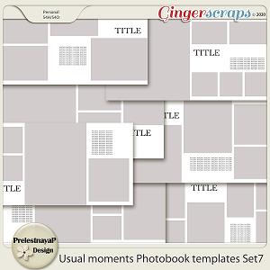 Usual moments Photobook templates Set 7