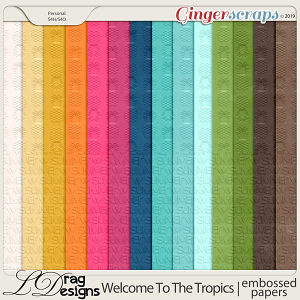 Welcome To The Tropics: Embossed Papers by LDragDesigns