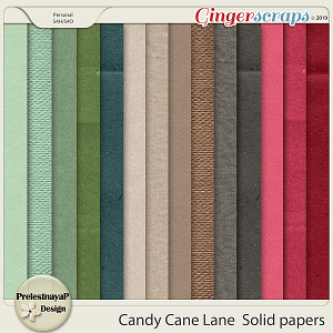 Candy Cane Lane  Solid papers
