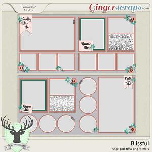 Blissful Templates by Dear Friends Designs