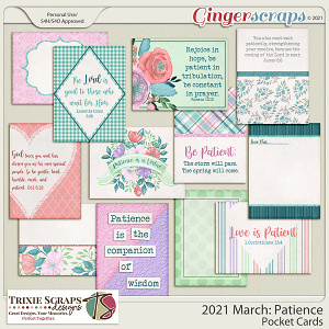 2021 March: Patience Pocket Cards by North Meets South Studios