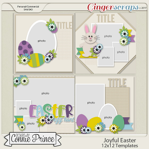 Joyful Easter - 12x12 Temps (CU Ok)