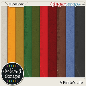 A Pirate's Life SOLIDS by Heather Z Scraps
