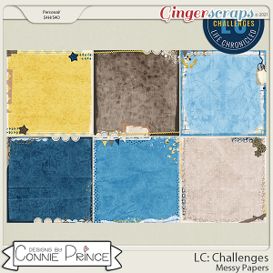 Life Chronicled: Challenges - Messy Papers by Connie Prince