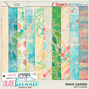 Magic Garden Artsy Papers by JB Studio and Neia Scraps