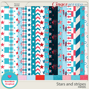 Stars and stripes - papers