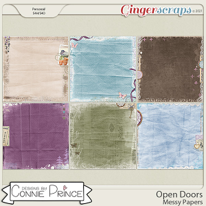 Open Doors - Messy Papers by Connie Prince